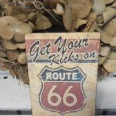 Tekstbordje route 66