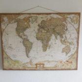 Stoere wereld kaart